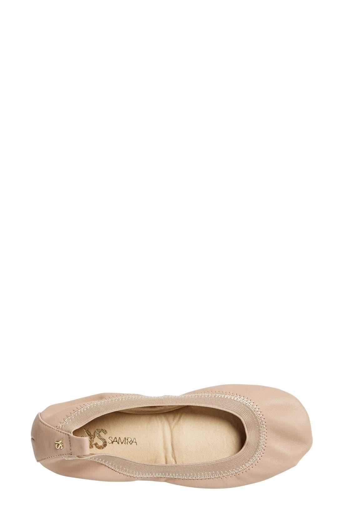 Alternate Image 3  - Yosi Samra 'Samara' Foldable Ballet Flat (Women)