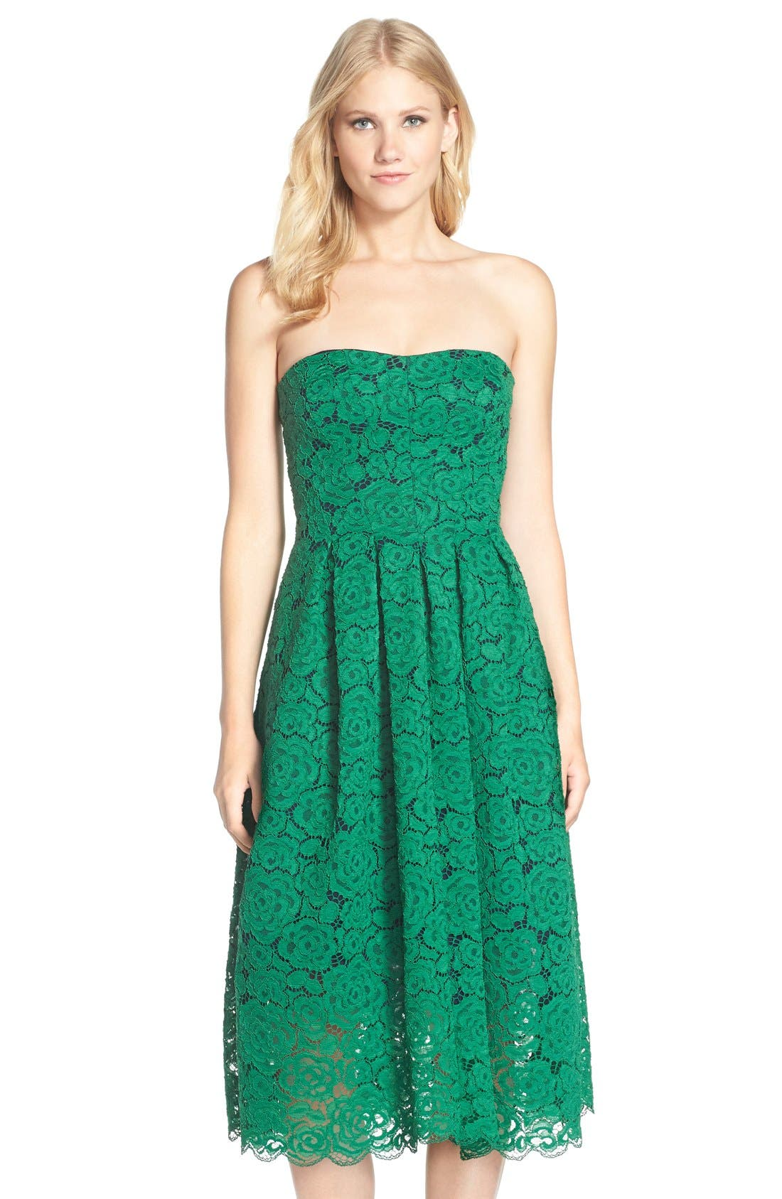 Main Image - Vera Wang Lace Fit & Flare Dress