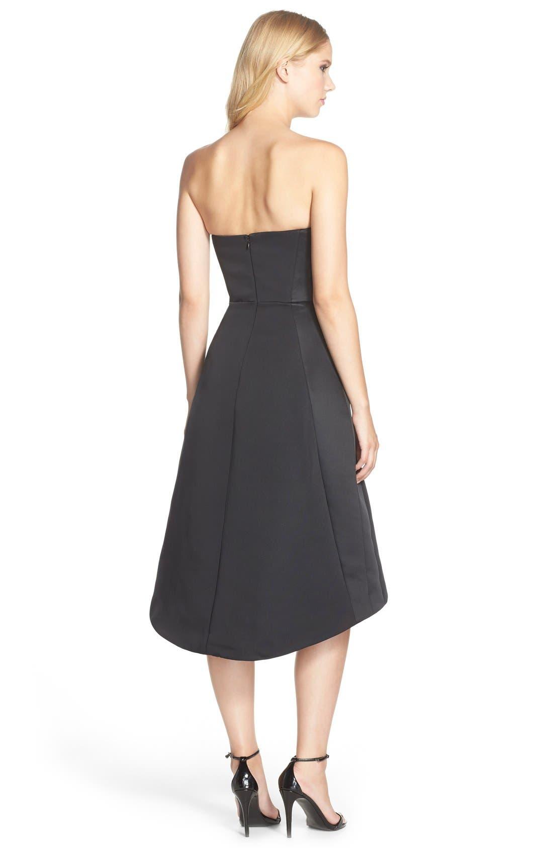 Alternate Image 2  - HalstonHeritage Strapless Satin Fit & Flare Dress