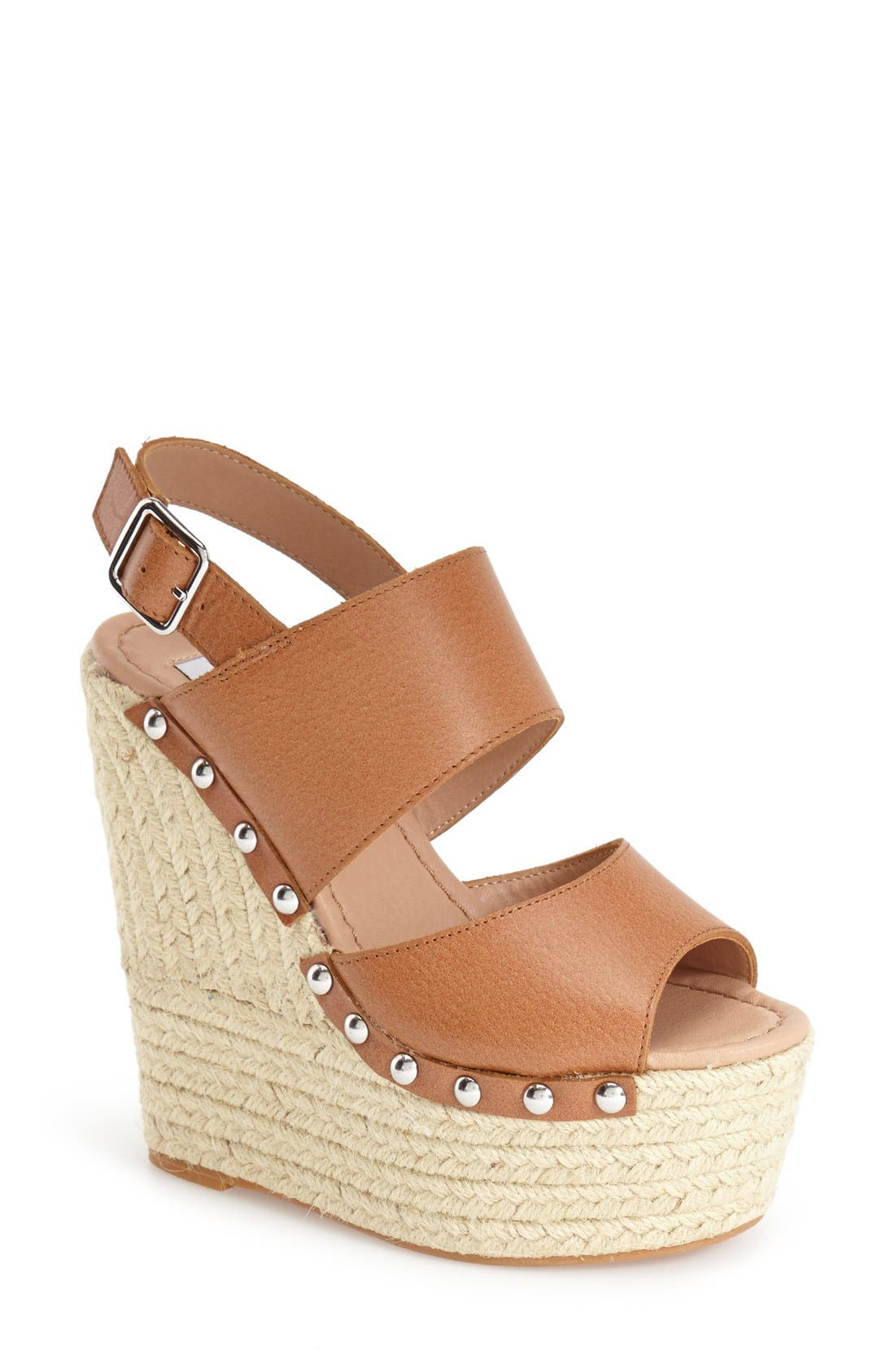 Alternate Image 1 Selected - Steve Madden 'Jummbo' Espadrille Wedge Sandal (Women)