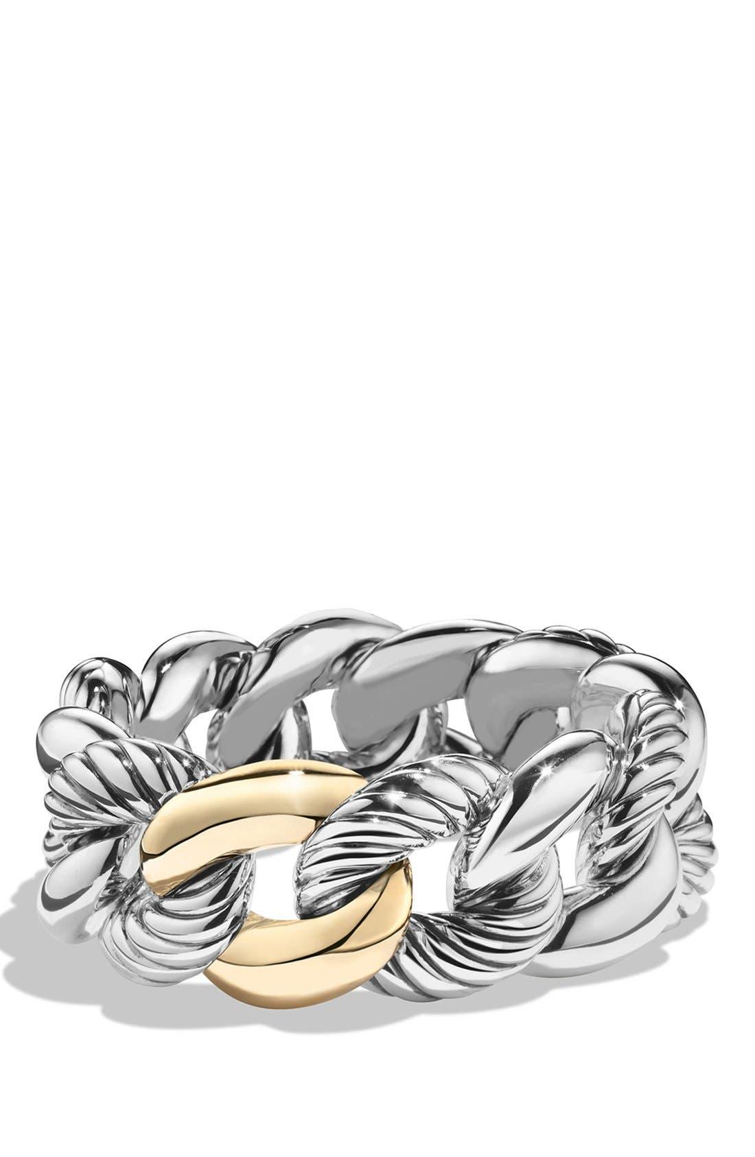 David Yurman 'Belmont' Curb Link Bracelet with 18K Gold