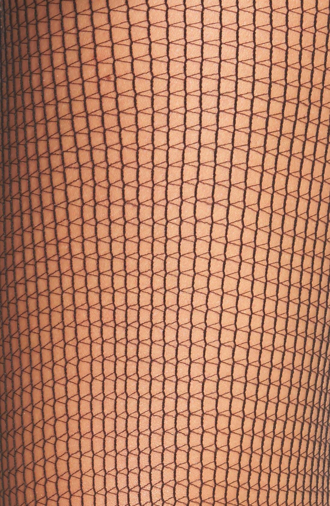 Alternate Image 2  - Calvin Klein Square Net Pantyhose