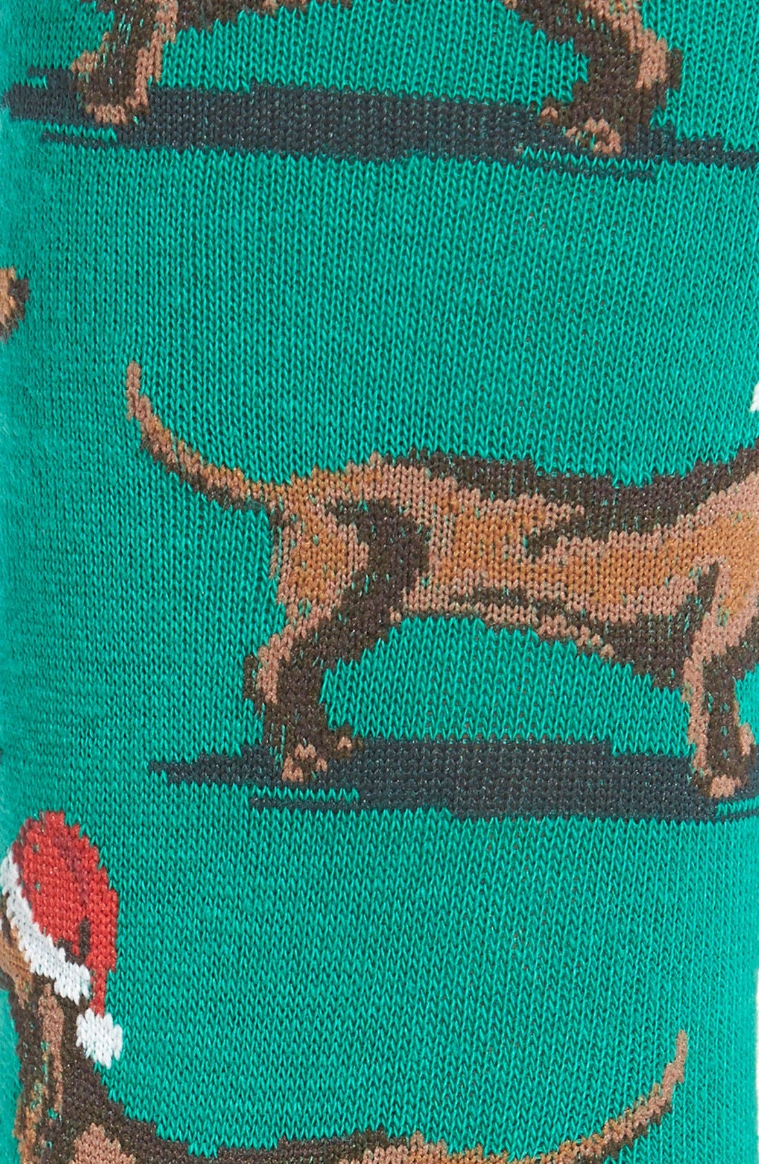 Alternate Image 2  - Hot Sox 'Santa Dogs' Crew Socks