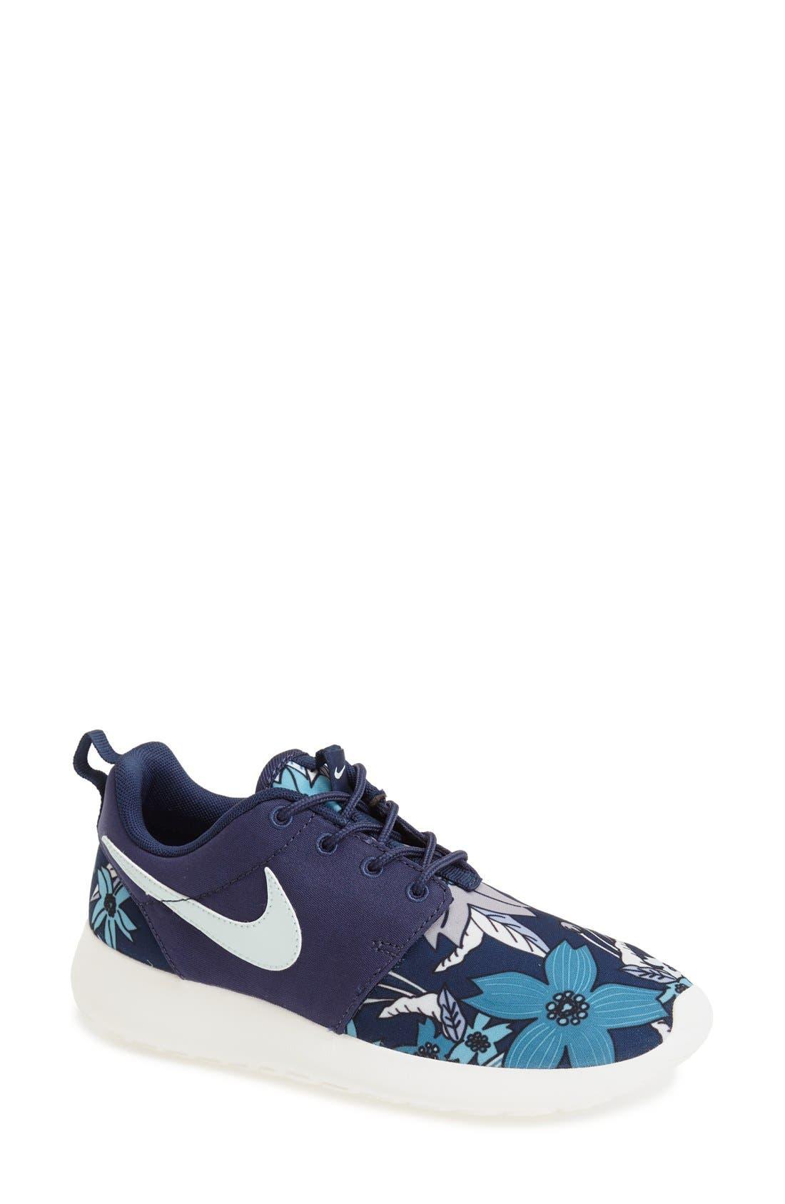 Alternate Image 1 Selected - Nike 'Roshe Run' Print Sneaker (Women)