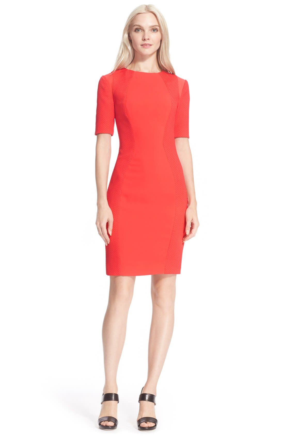 Alternate Image 1 Selected - Ted Baker London 'Abrial' Mesh Panel Body-Con Dress
