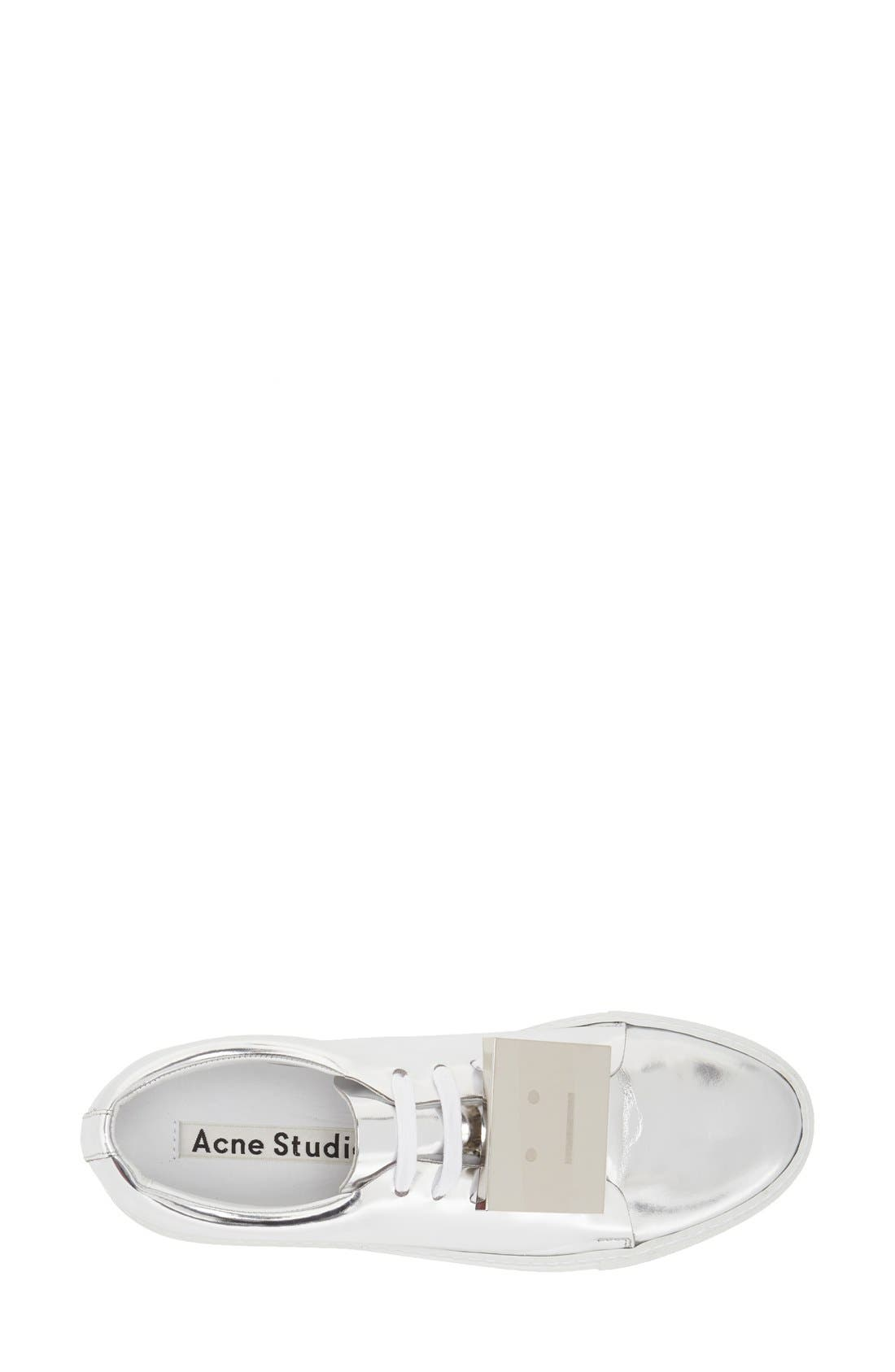 Alternate Image 3  - ACNE Studios 'Adriana' Silver Metallic Sneaker (Women)