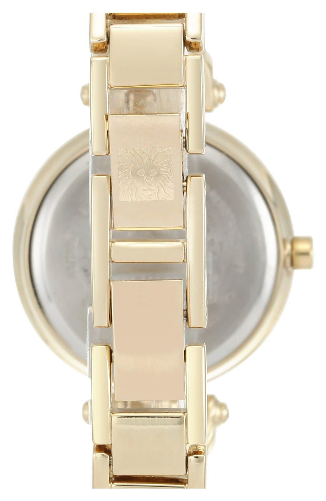 Alternate Image 2  - Anne Klein Diamond Marker Bangle Watch, 28mm