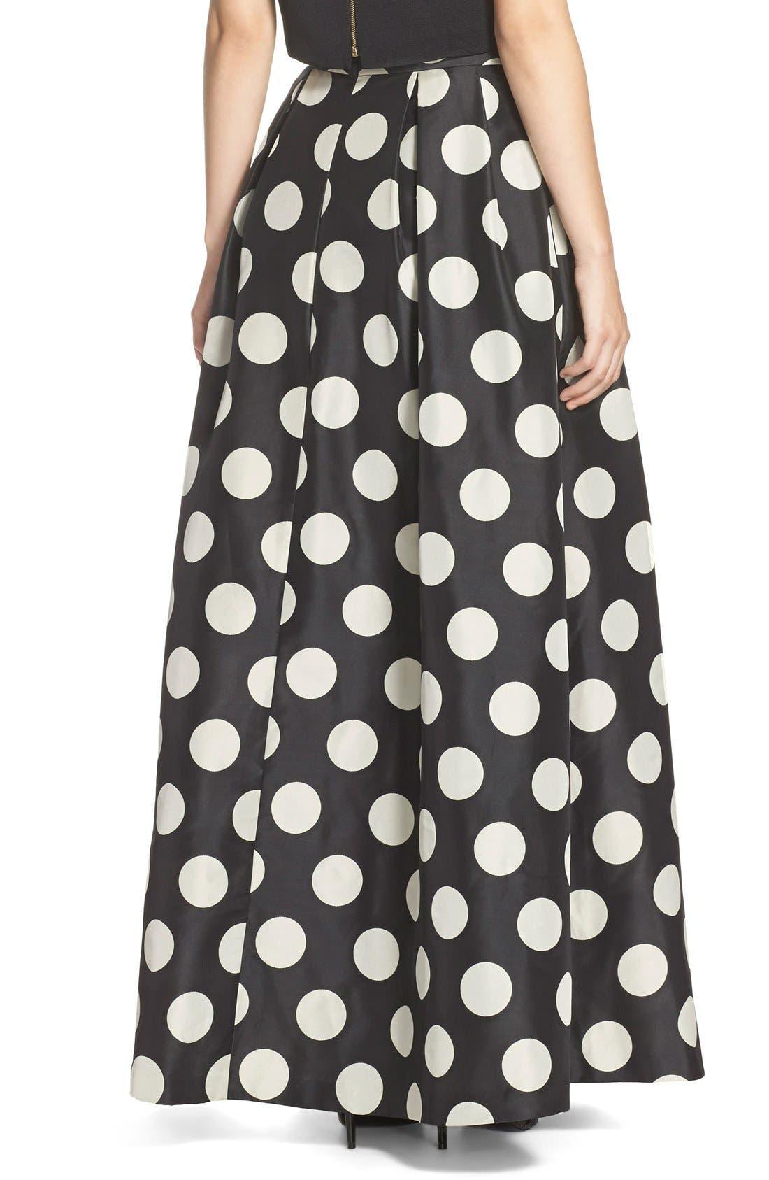 Alternate Image 2  - Eliza J Polka Dot Woven Ball Skirt