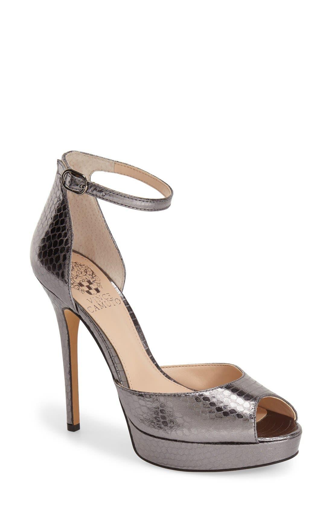 Alternate Image 1 Selected - Vince Camuto 'Lillith' Ankle Strap Platform Pump (Women)