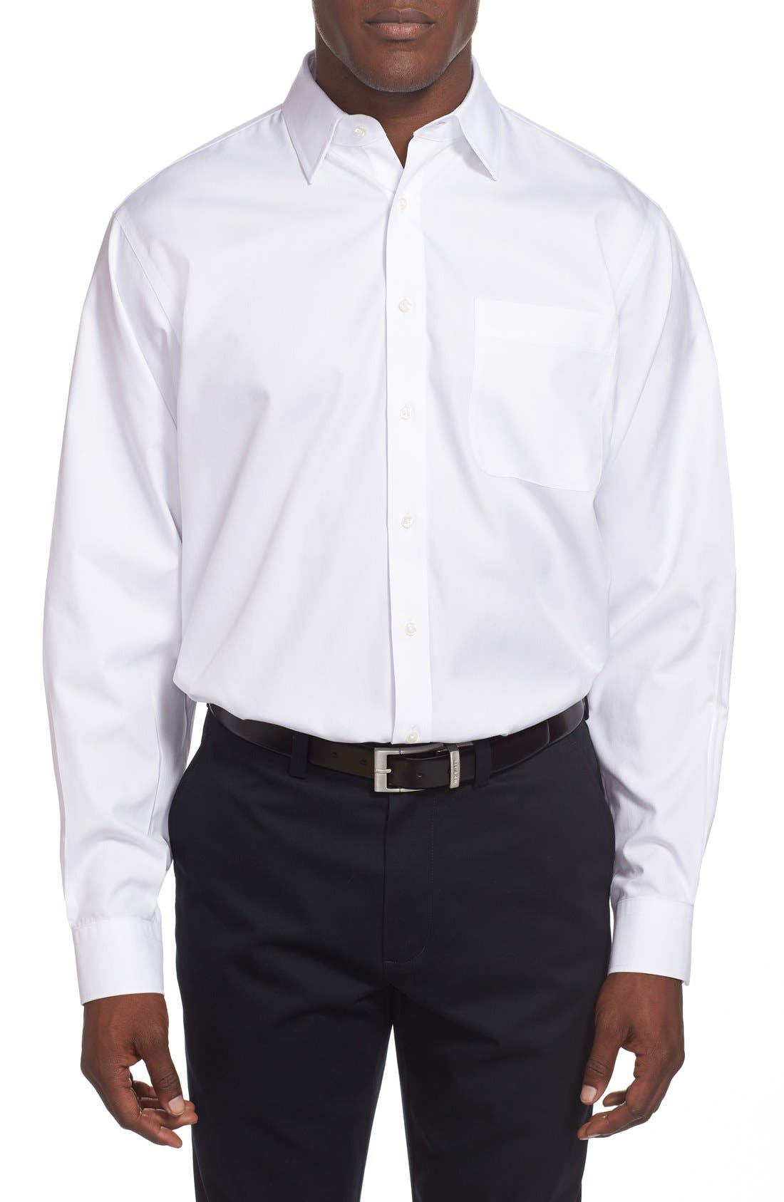Alternate Image 2  - Nordstrom Men's Shop Smartcare™ Classic Fit Solid Dress Shirt (Online Only)