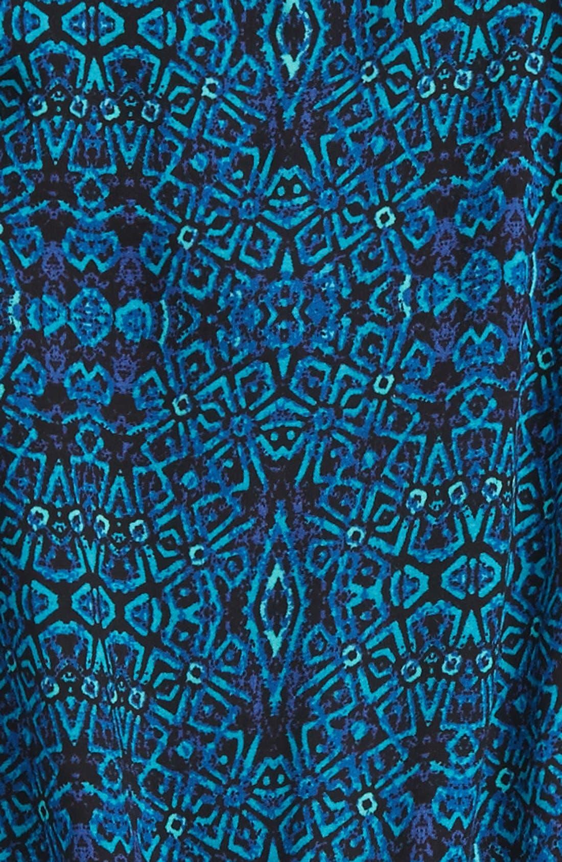 Alternate Image 3  - Mia Chica Floral Print Cap Sleeve Romper (Big Girls)