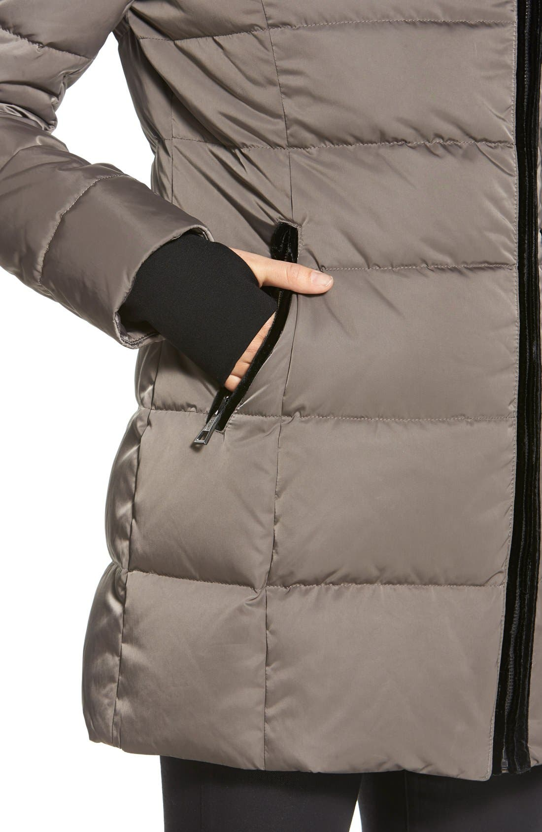 Alternate Image 5  - Vera Wang 'Blaire' Asymmetrical Quilted Coat