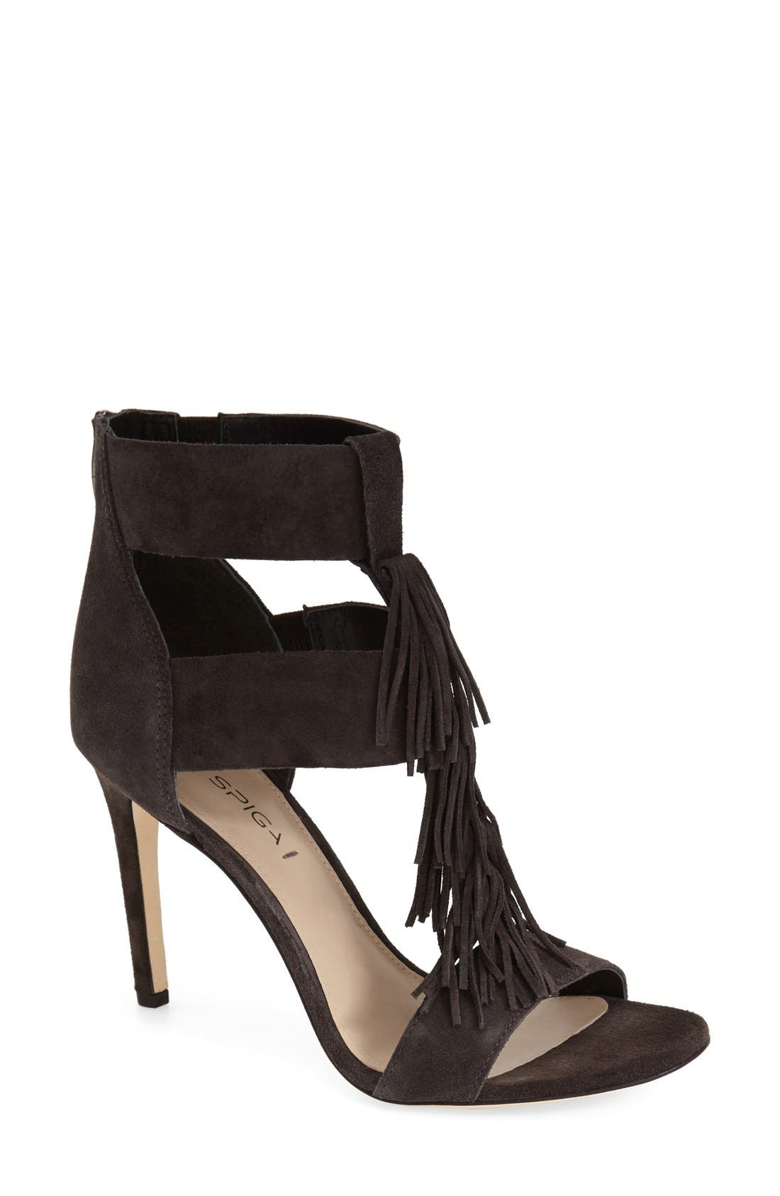 Alternate Image 1 Selected - Via Spiga 'Eilish' Fringe Sandal (Women)
