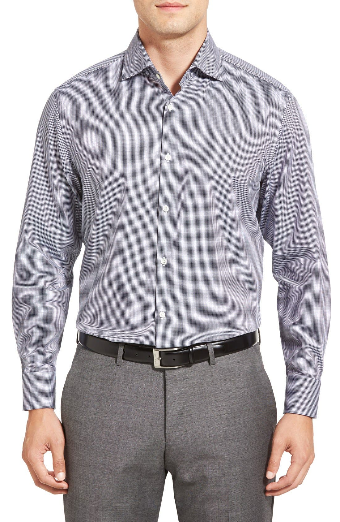 Alternate Image 2  - BOSS 'Miles' Sharp Fit Check Dress Shirt