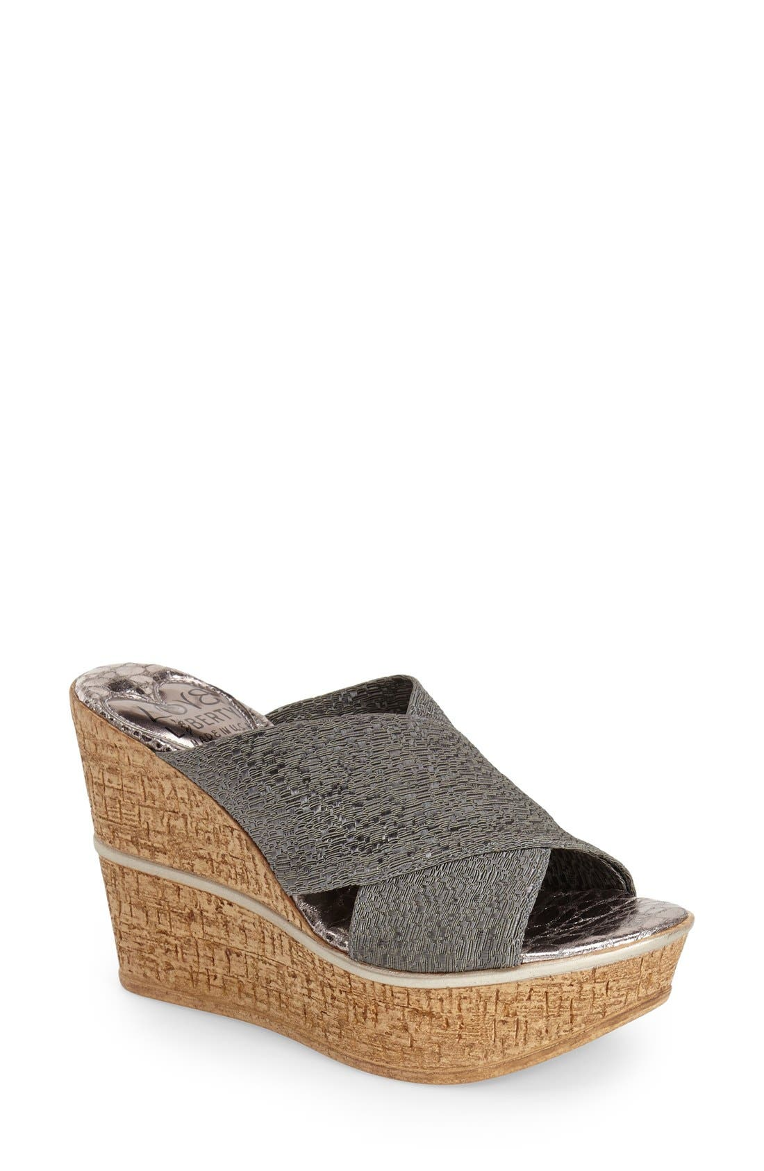 LOVE AND LIBERTY 'Ruth' Wedge Slide Sandal
