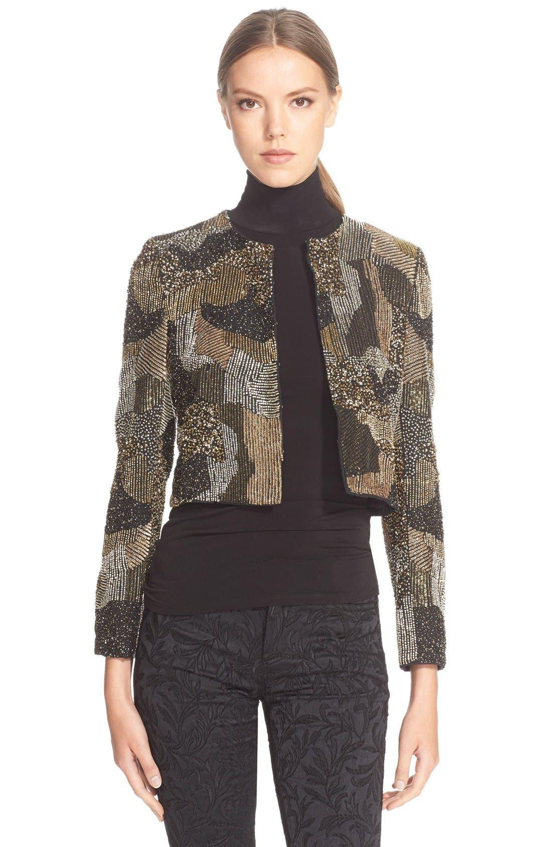 Alternate Image 1 Selected - Alice + Olivia 'Kidman' CroppedBeaded Jacket