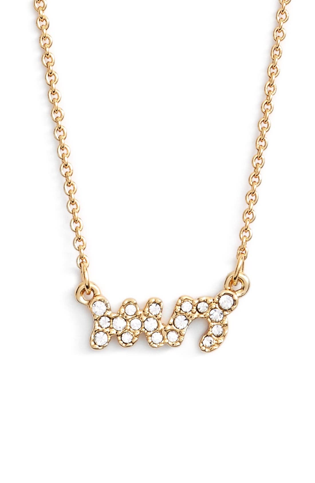 Alternate Image 1 Selected - katespade new york'mrs' pavépendant necklace