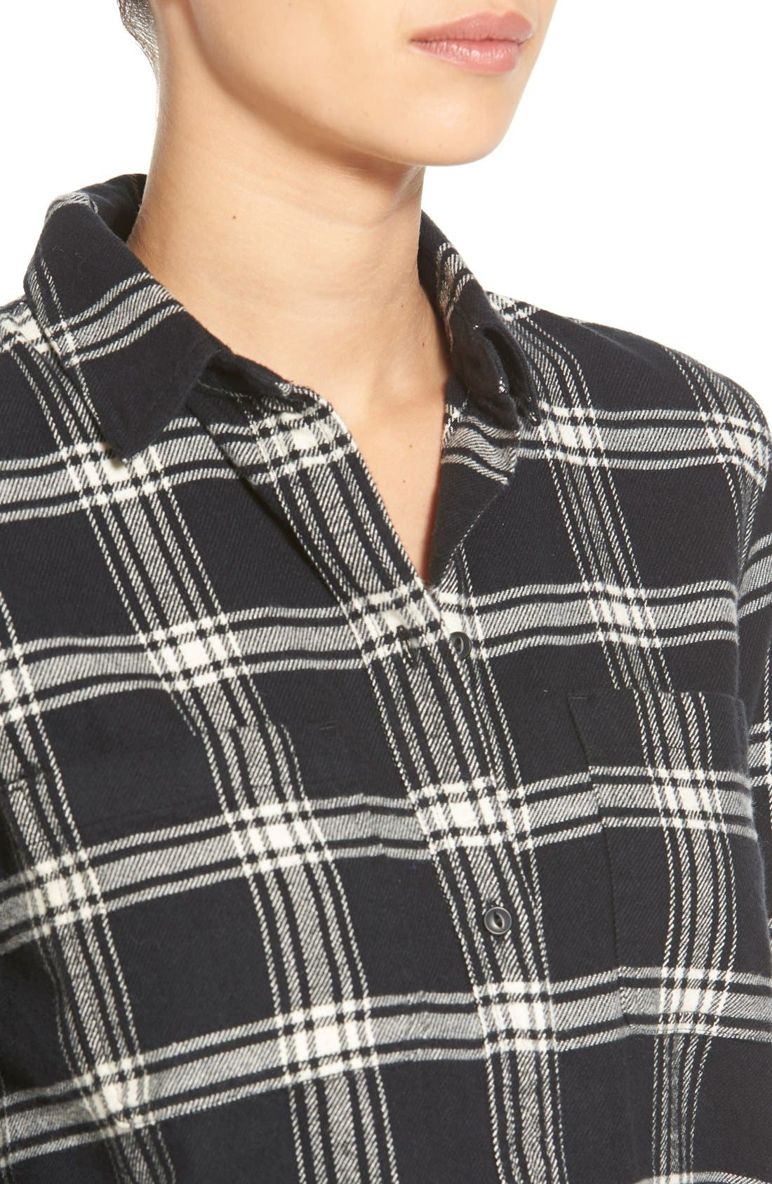 Alternate Image 5  - Madewell'Rutherford Plaid' Flannel Ex-Boyfriend Shirt