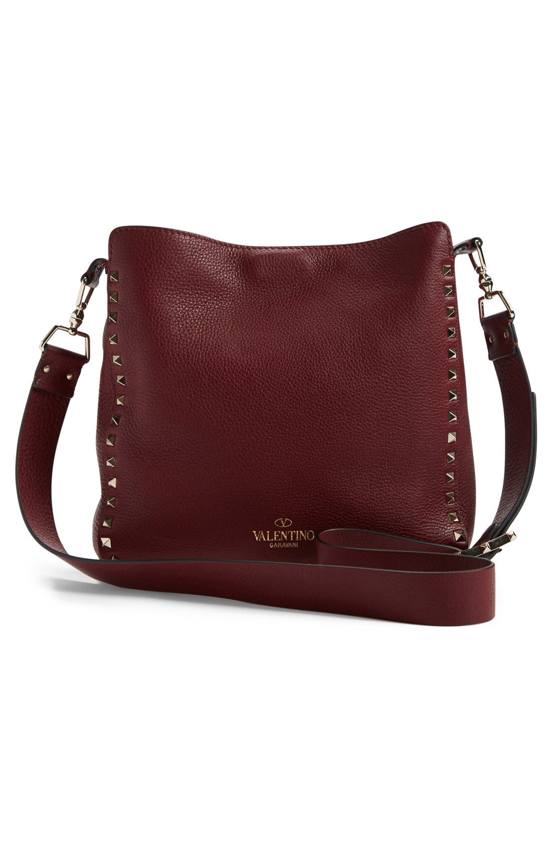 Alternate Image 2  - Valentino 'Small Rockstud' Leather Hobo Bag