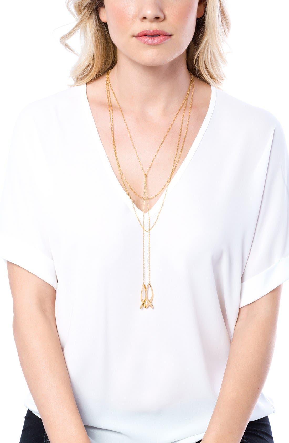 Alternate Image 4  - gorjana'Viola' Layered Pendant Necklace
