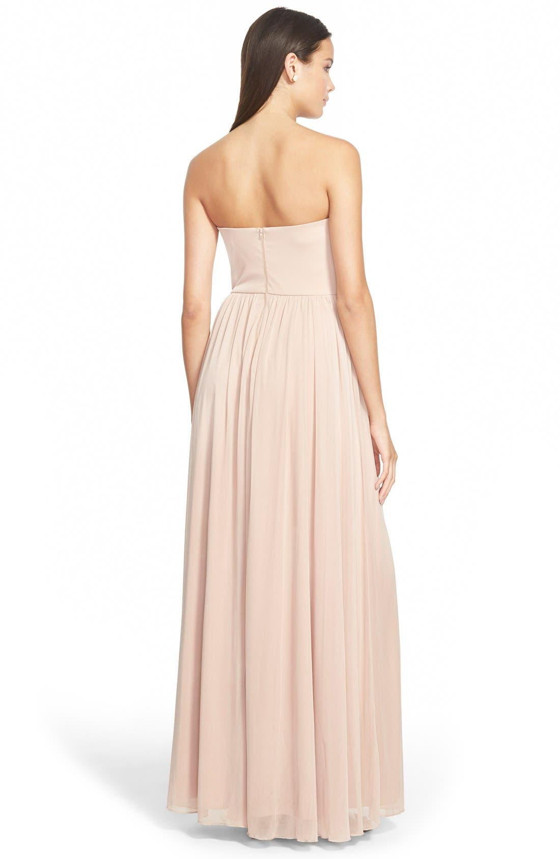 Alternate Image 2  - Sequin Hearts Strapless Embellished Gown
