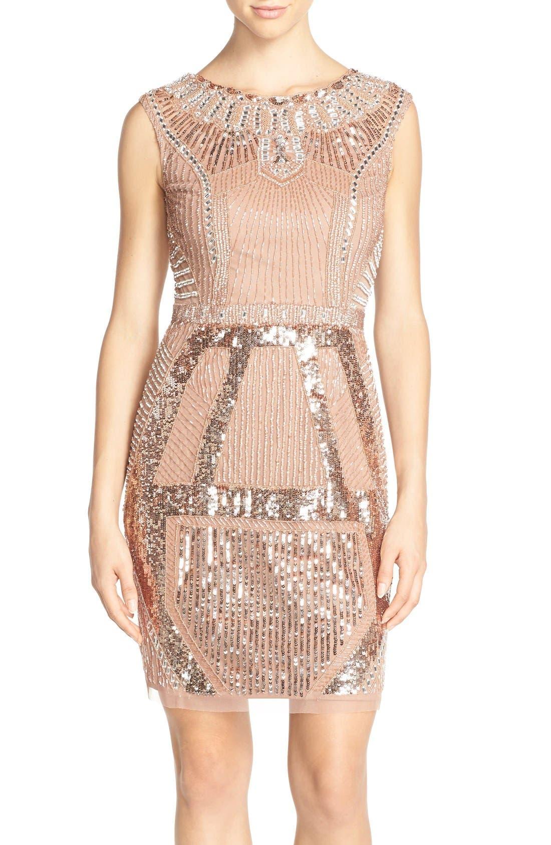 Main Image - Aidan Mattox Embellished Sleeveless Dress