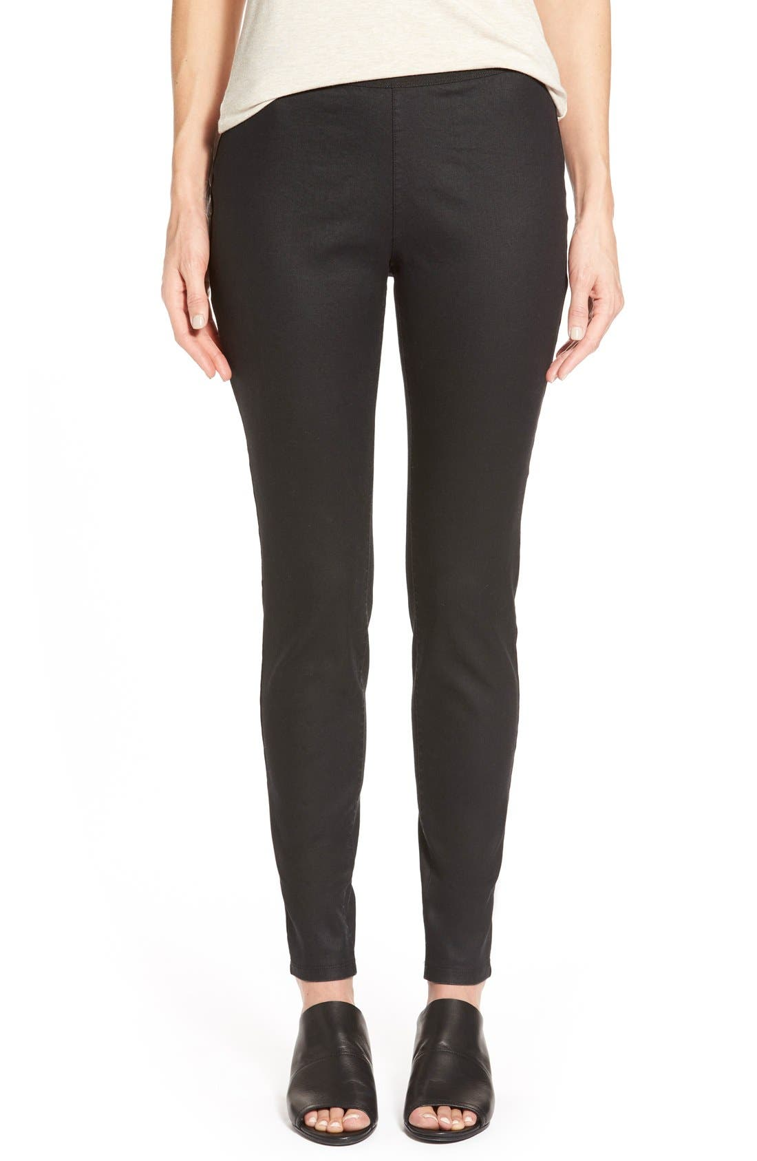 Eileen Fisher Stretch Twill Leggings (Regular & Petite)