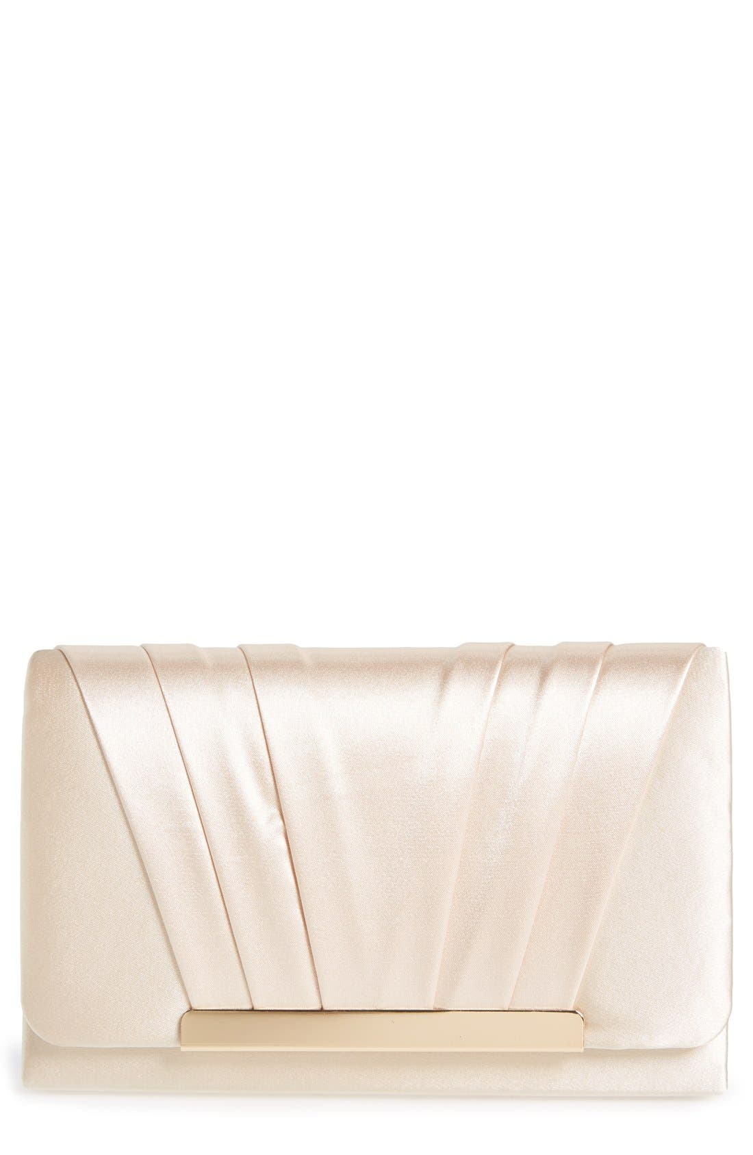 Alternate Image 1 Selected - Jessica McClintock 'Harper' Satin Clutch