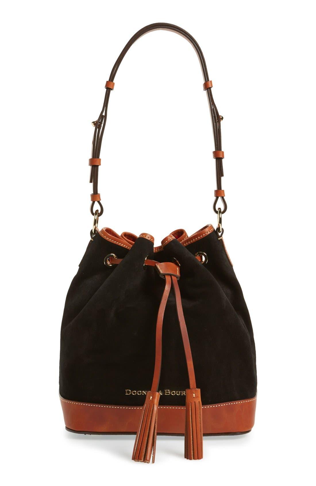 Alternate Image 1 Selected - Dooney& Bourke Suede Bucket Bag