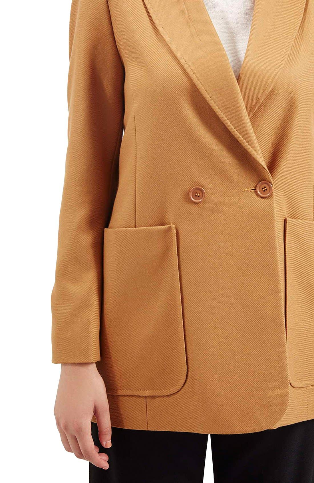 Alternate Image 5  - Topshop '70s Twill Longline Jacket