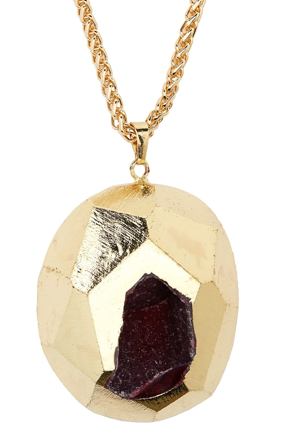 Alternate Image 2  - Panacea Semiprecious Stone Pendant Necklace