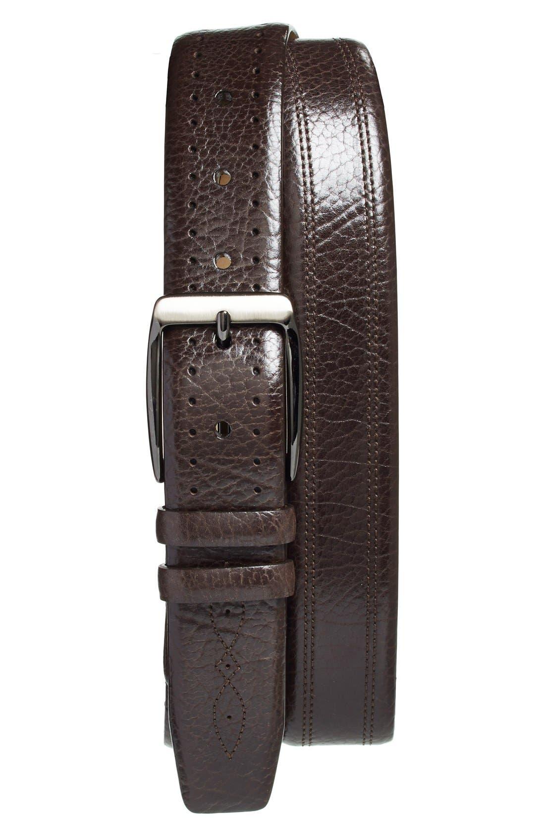 Main Image - Mezlan'Perseo' Leather Belt