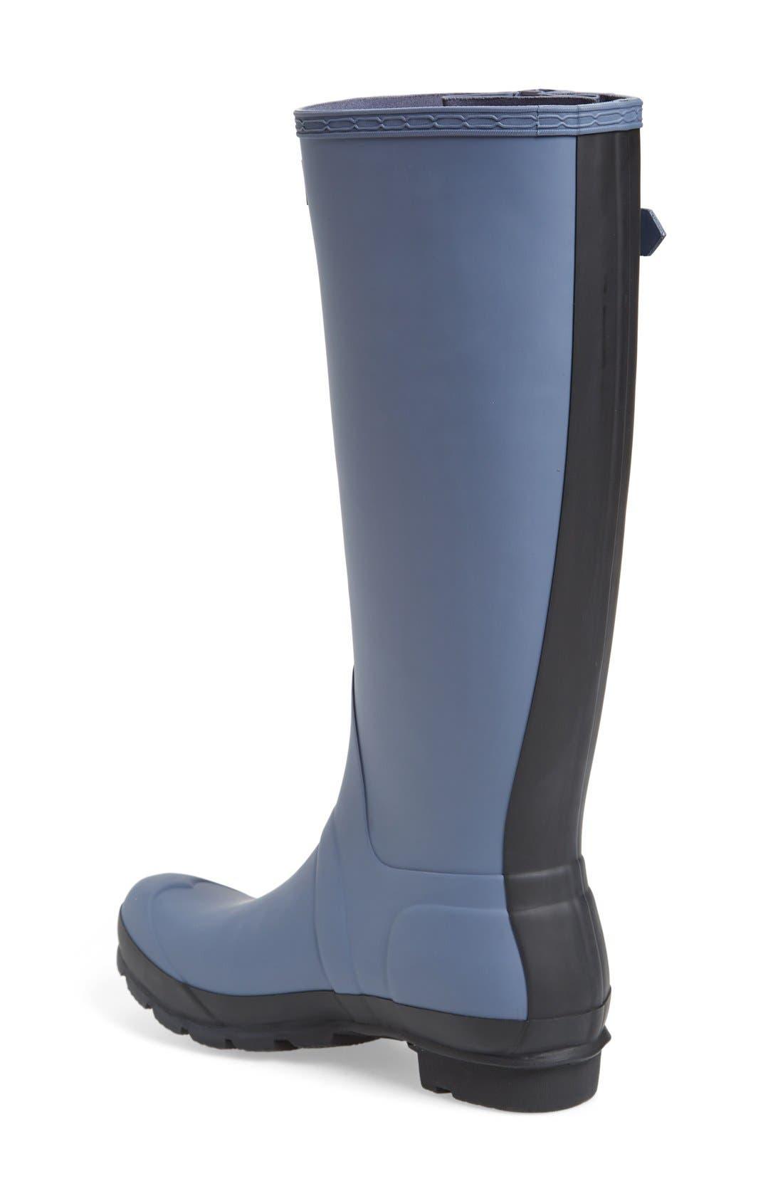 Alternate Image 2  - Hunter 'Original Slim' Two-Tone Rubber Rain Boot (Women)