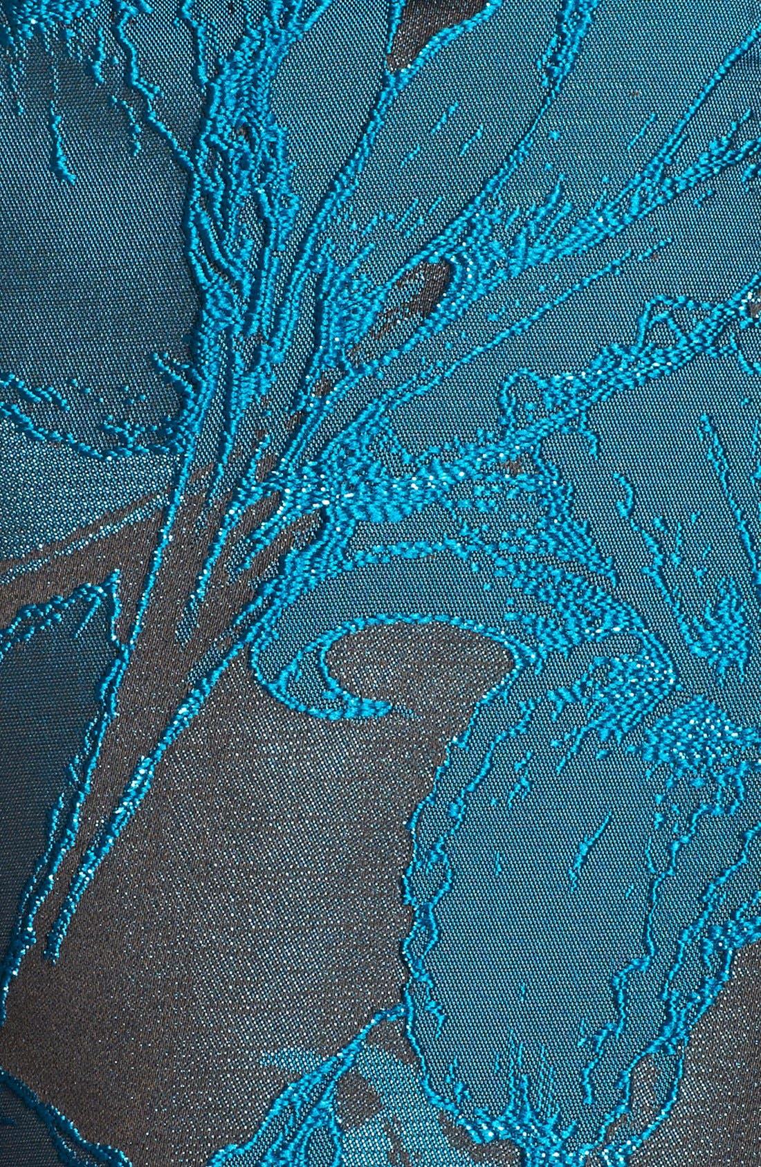 Alternate Image 6  - Adrianna Papell Lace Jacquard Fit & Flare Dress (Regular & Petite)