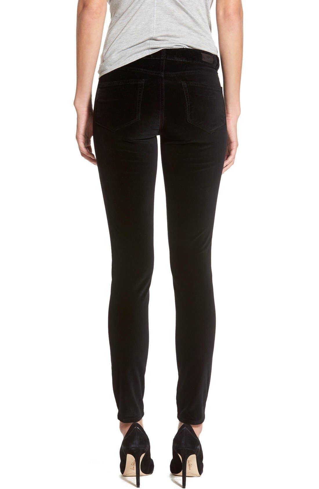 Alternate Image 2  - Paige Denim 'Verdugo' Velvet Skinny Jeans