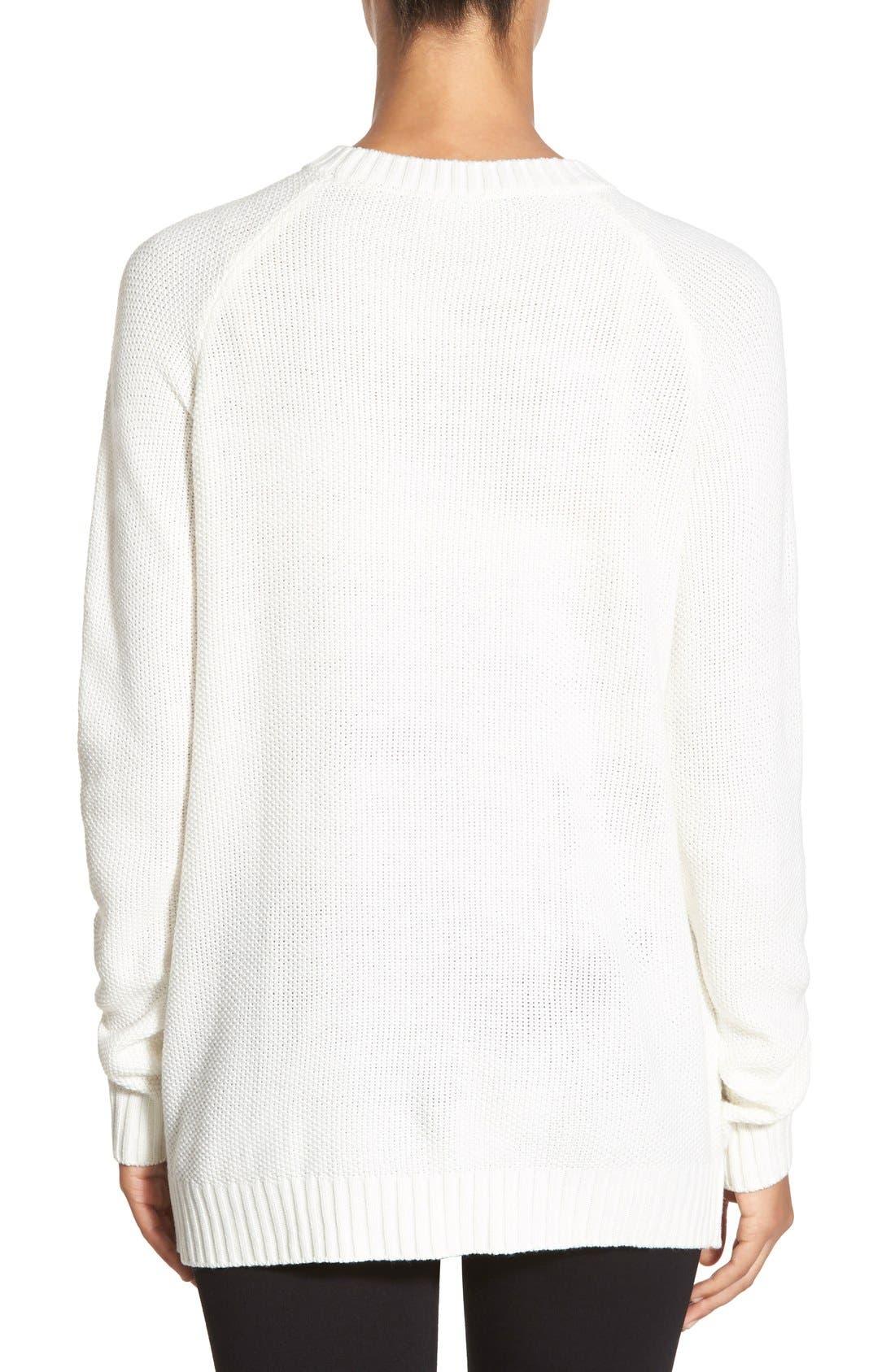 Alternate Image 2  - Ivanka Trump Fringe Trim Asymmetrical Sweater