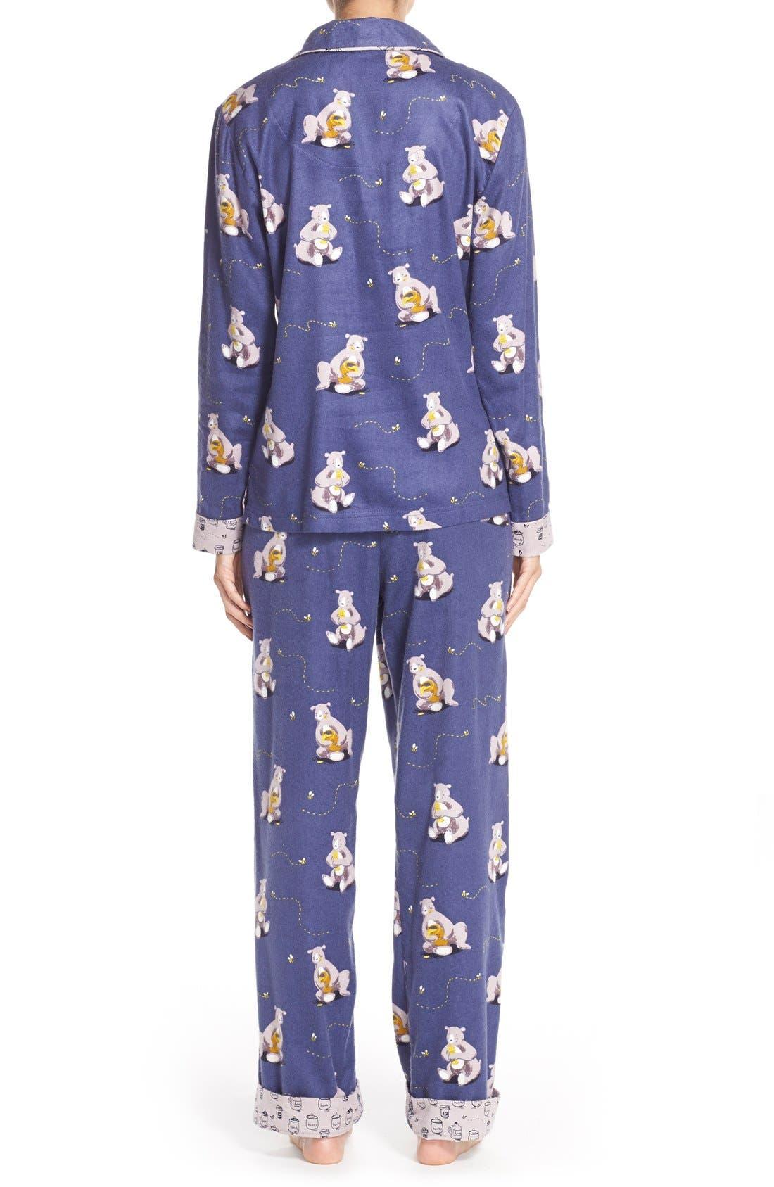 Alternate Image 2  - Munki MunkiFlannel Pajamas