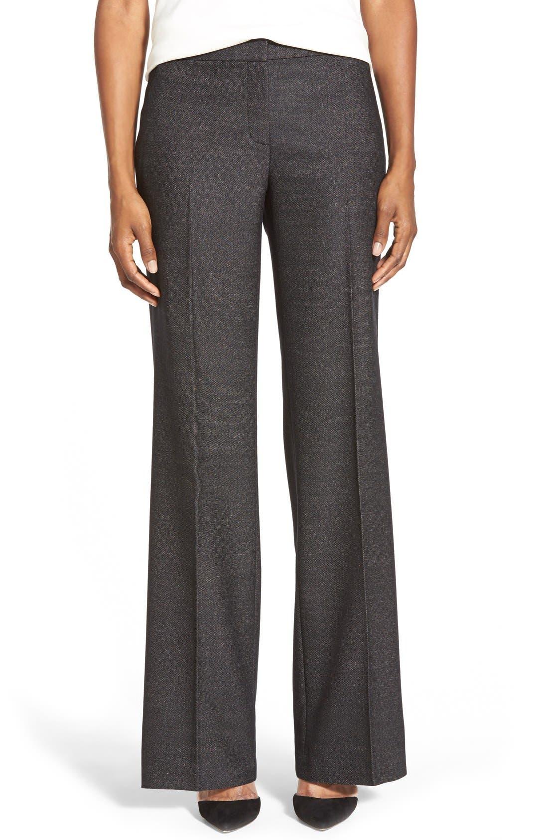 Main Image - Classiques Entier® 'Verona' Suiting Trousers (Regular & Petite)