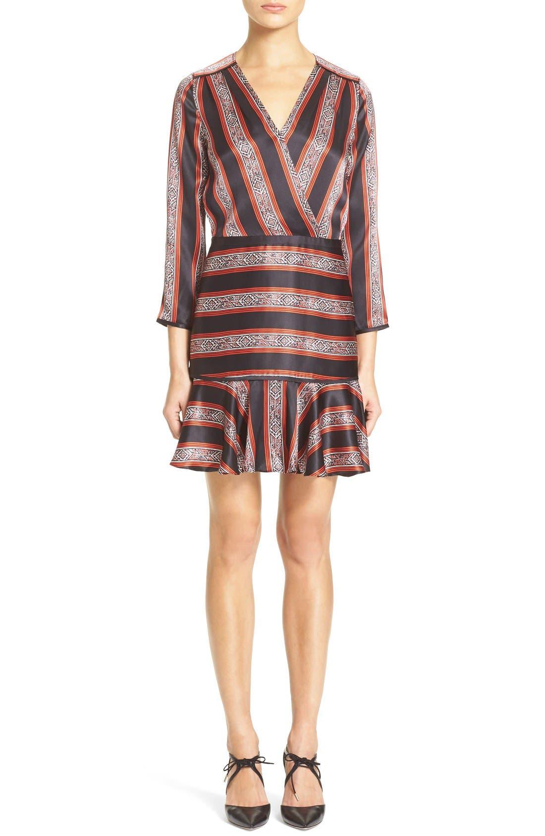 Main Image - Veronica Beard 'Ivy' Print SilkFlounce Dress