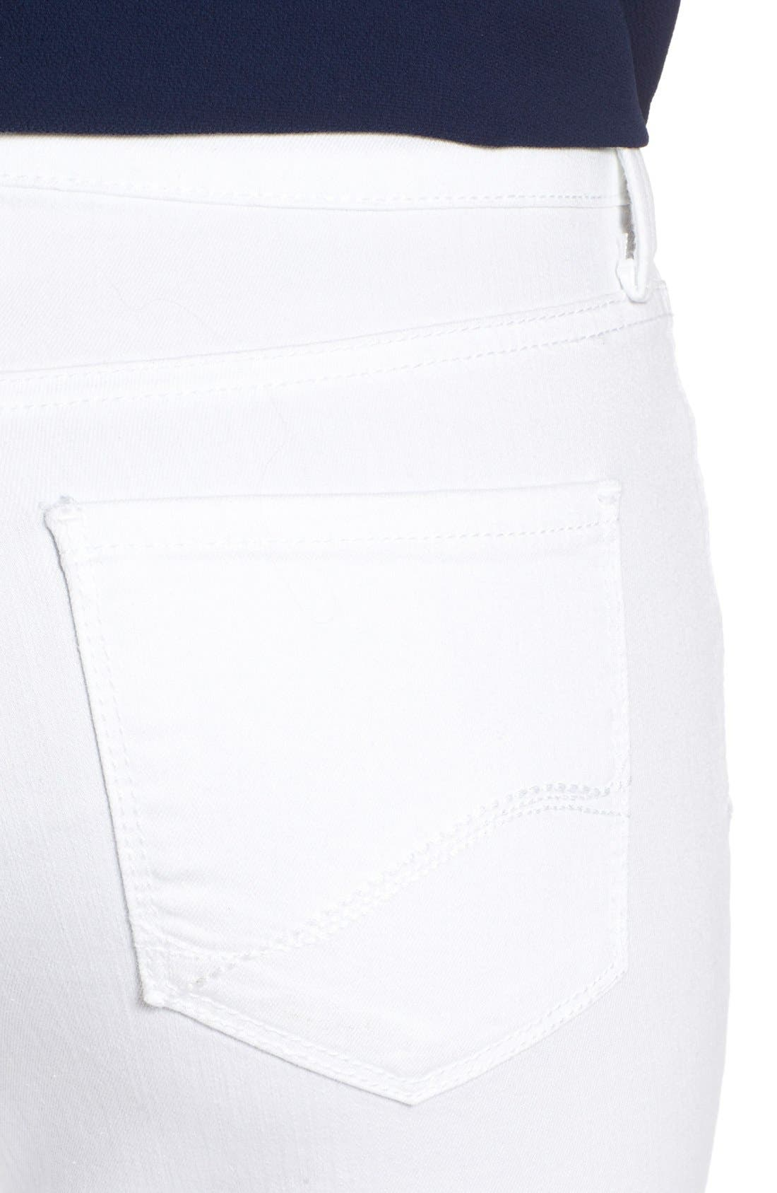 Alternate Image 4  - NYDJ Clarissa Colored Stretch Ankle Skinny Jeans (Regular & Petite)