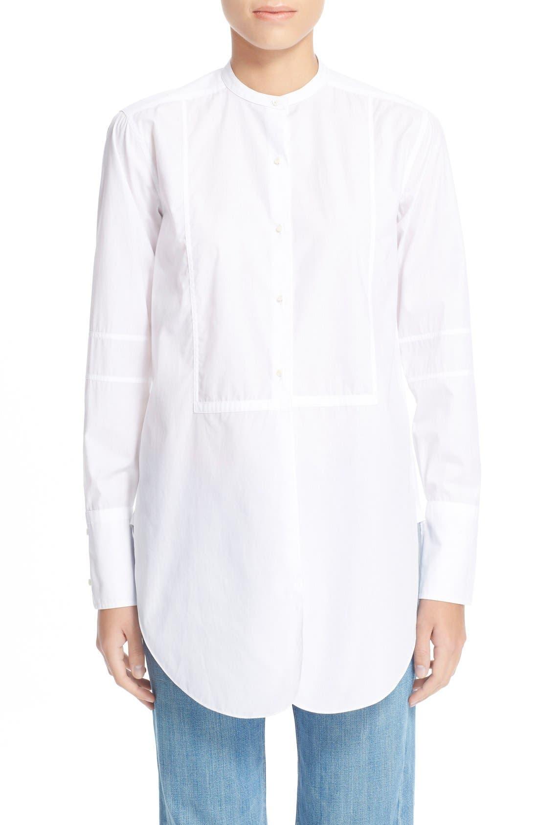 Alternate Image 1 Selected - HelmutLang Poplin Tuxedo Shirt