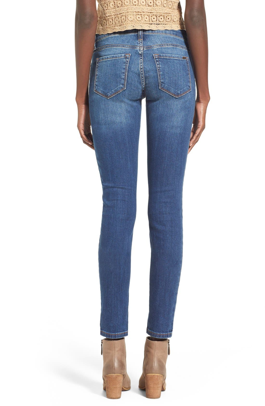 Alternate Image 2  - STS Blue 'Amy' Button Front Super Skinny Jeans