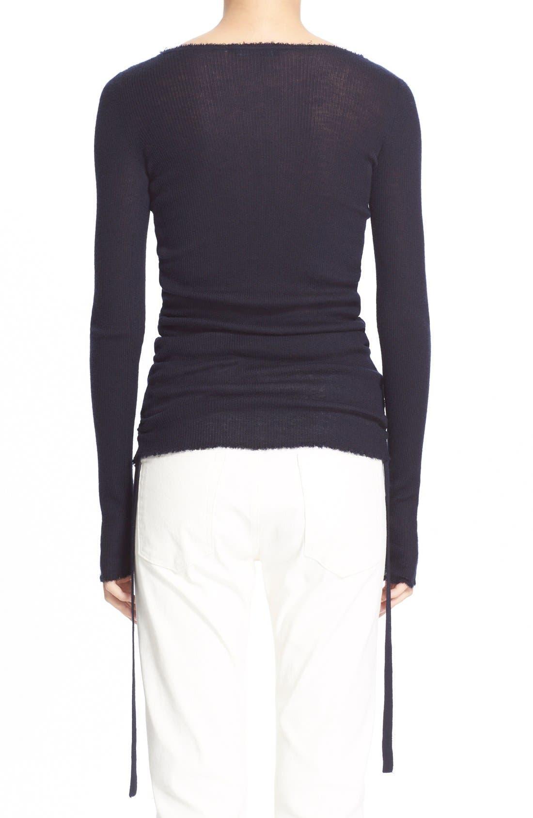 Alternate Image 2  - Helmut Lang RuchedCashmere Sweater