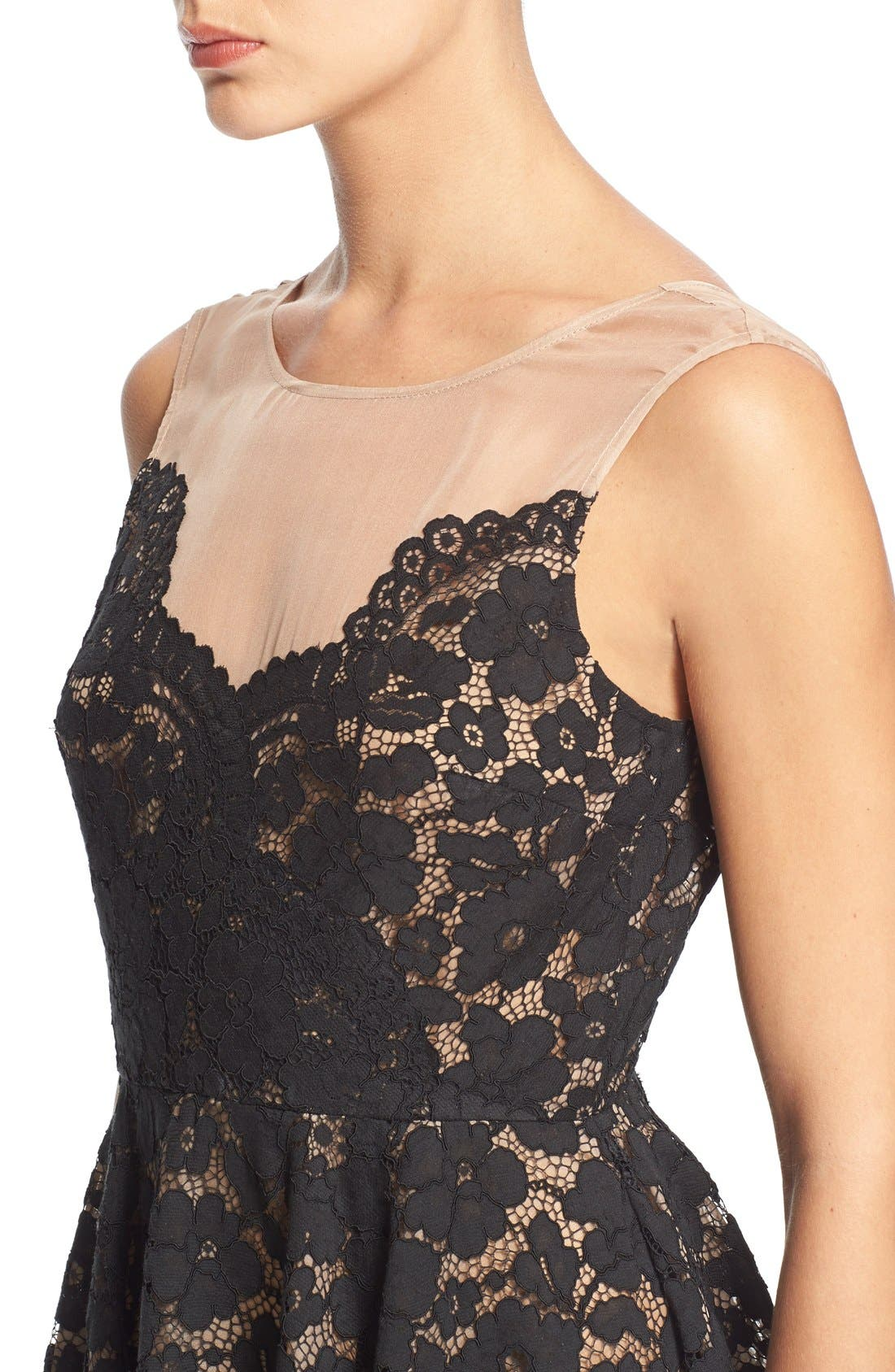 Alternate Image 4  - Tracy Reese Lace Overlay Handkerchief Illusion Dress