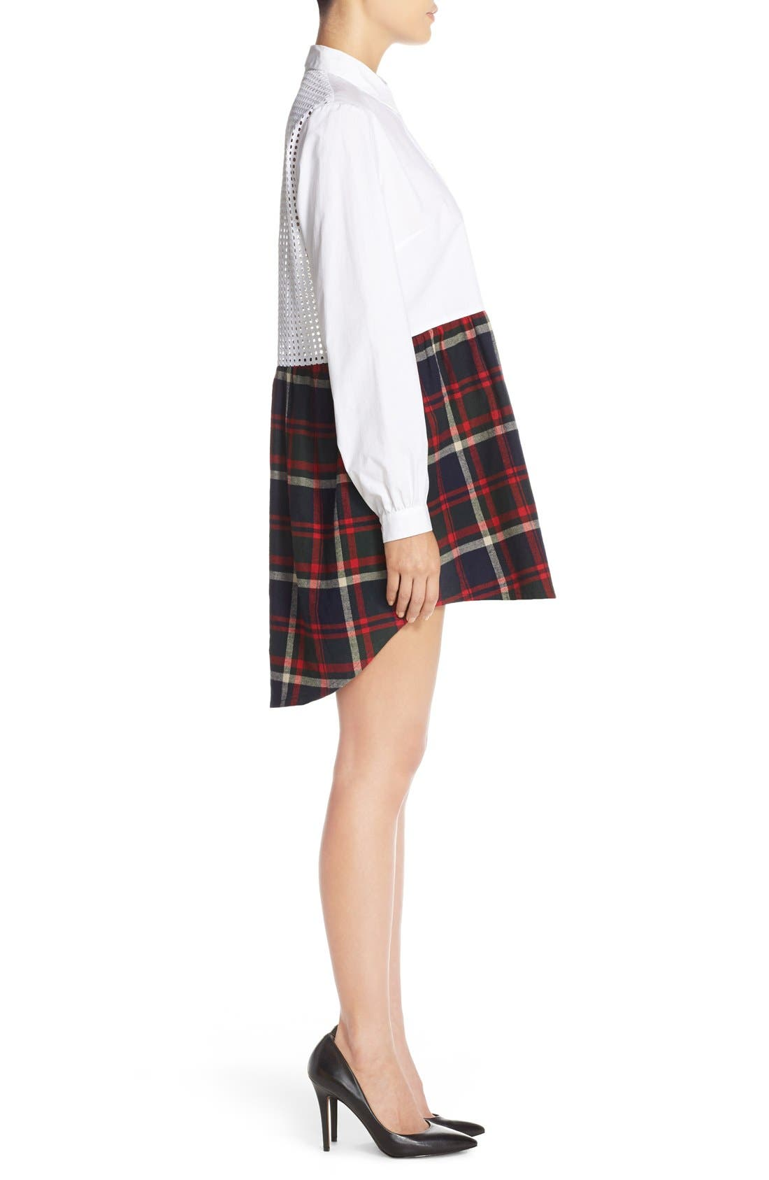 Alternate Image 3  - French Connection Twofer Cotton Plaid Shirtdress