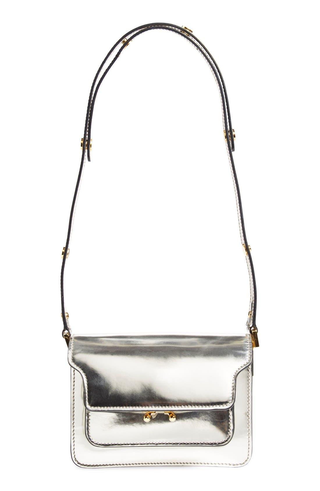 Main Image - Marni'Mini Trunk' Metallic LeatherShoulder Bag