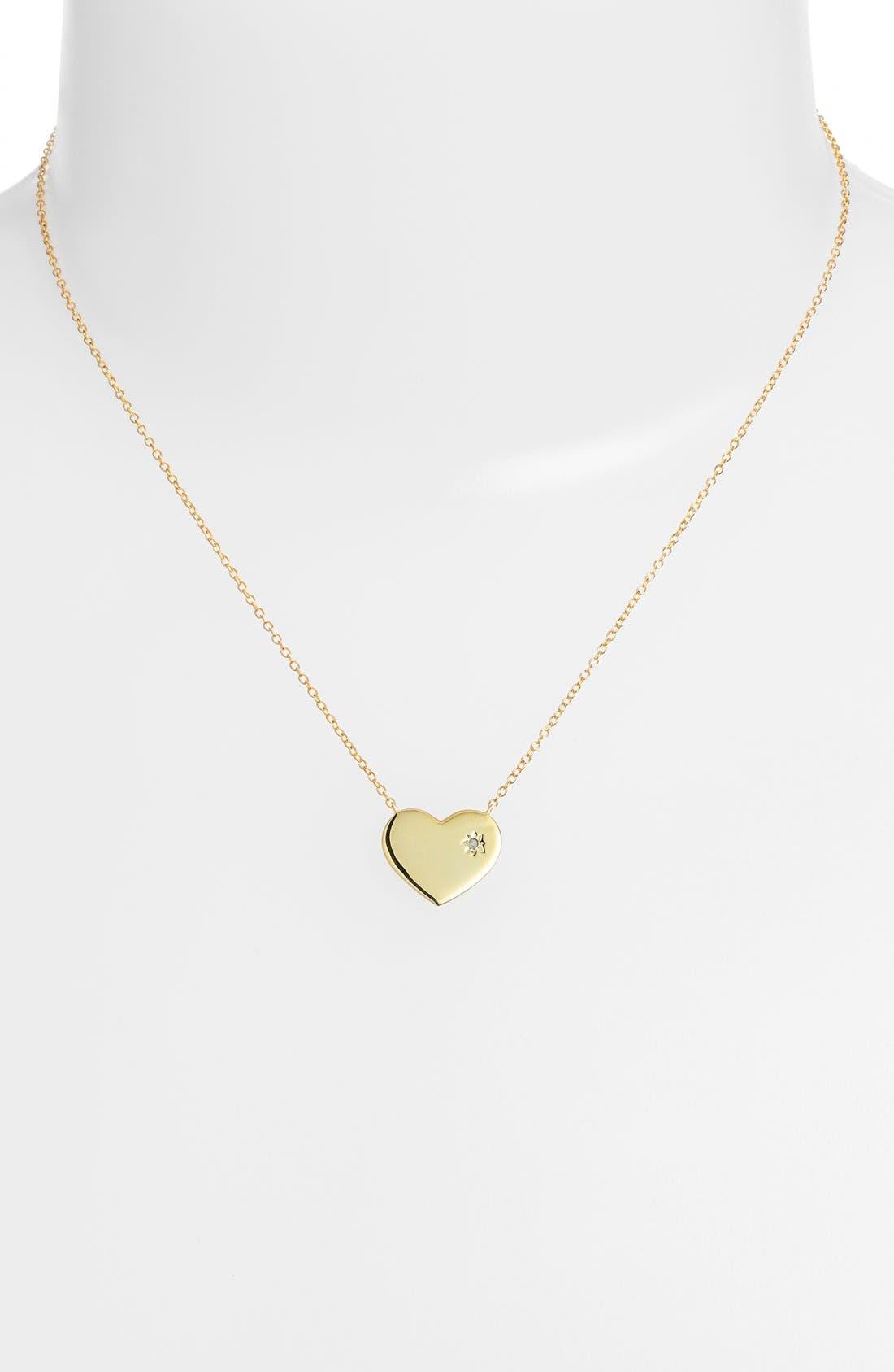 Alternate Image 2  - Argento Vivo Diamond Accent Heart Necklace