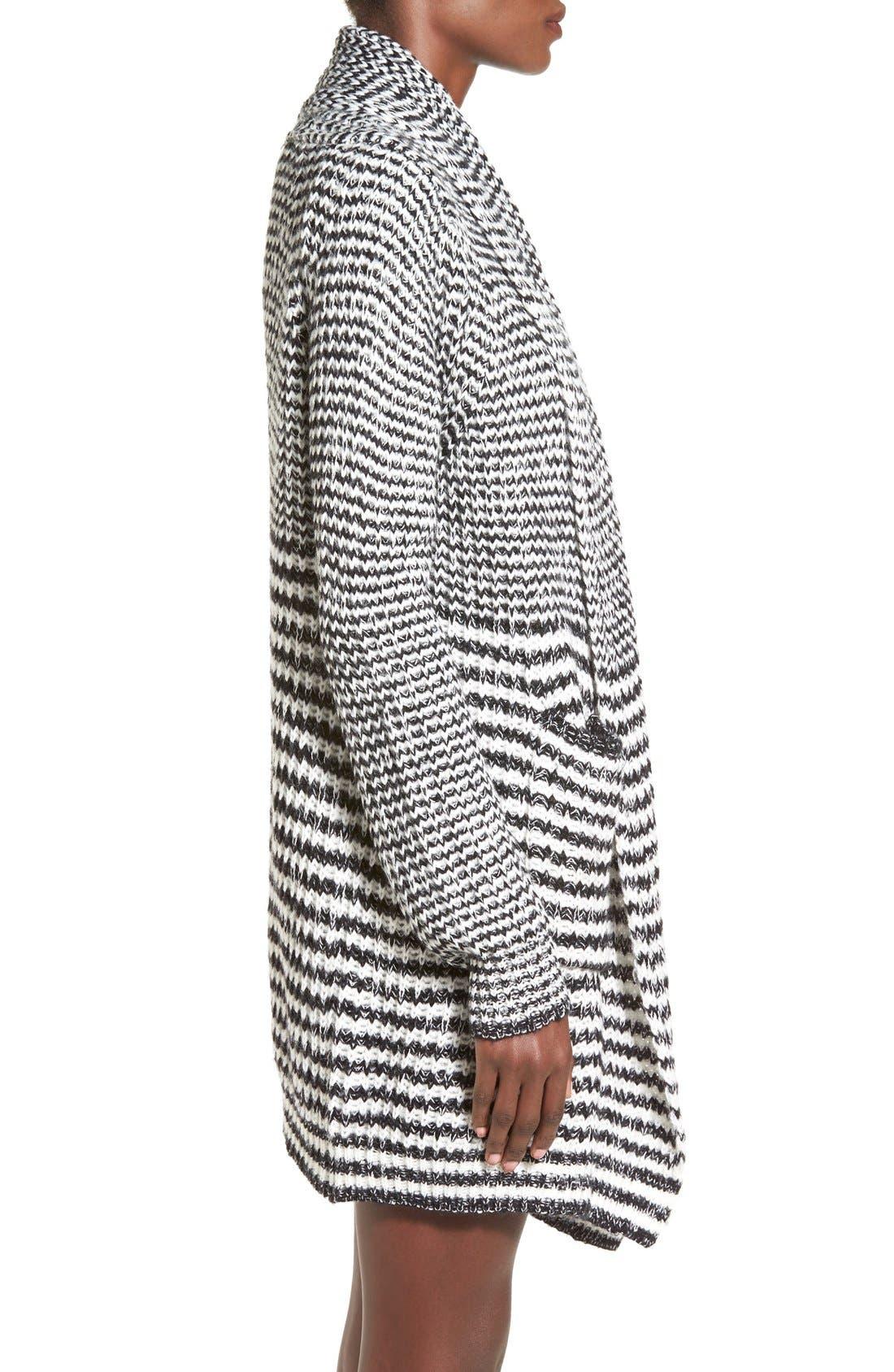 Alternate Image 3  - Woven Heart Stripe Long Cardigan