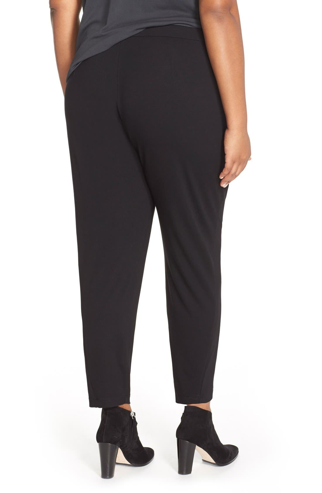 Alternate Image 2  - Eileen Fisher Slim Jersey Ankle Pants (Plus Size)