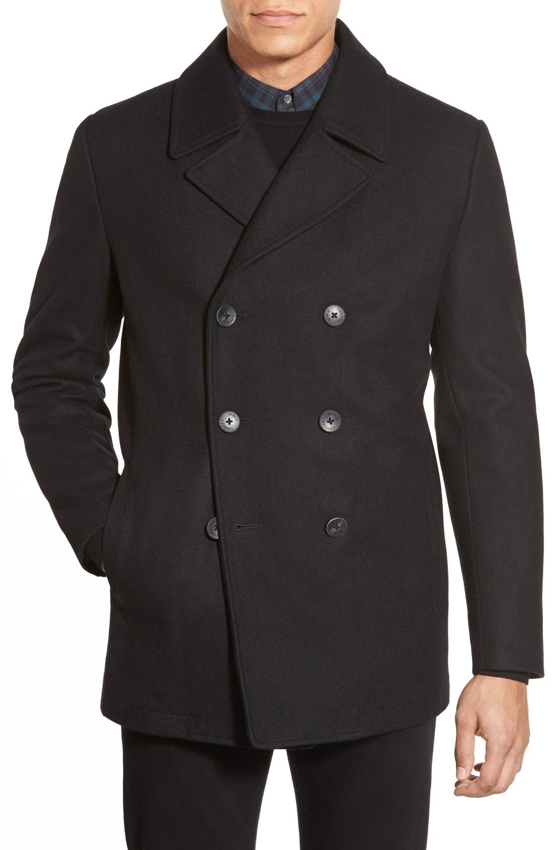 Alternate Image 1 Selected - Vince Camuto Classic Peacoat